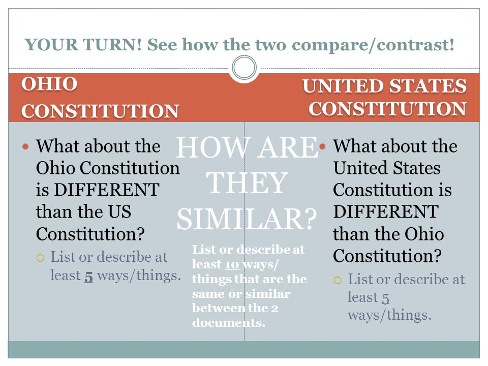 YOUR TURN! See how the two compare/contrast!
