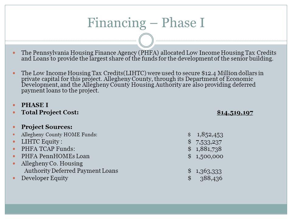 Financing – Phase I