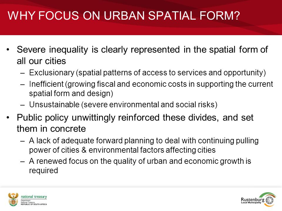 Why focus on urban spatial form