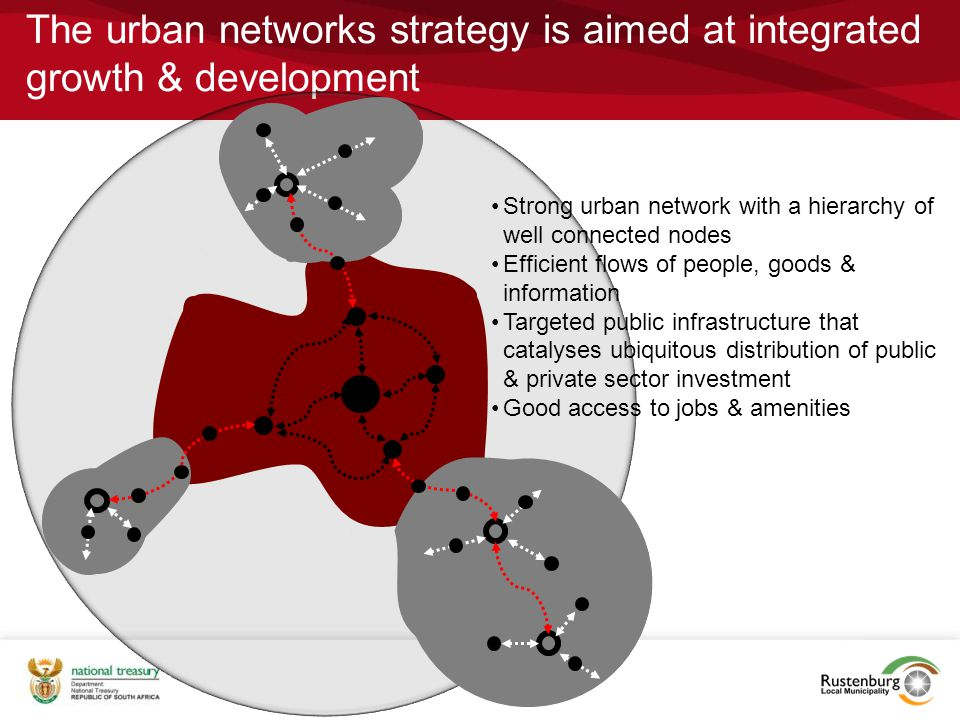 The urban networks strategy is aimed at integrated growth & development