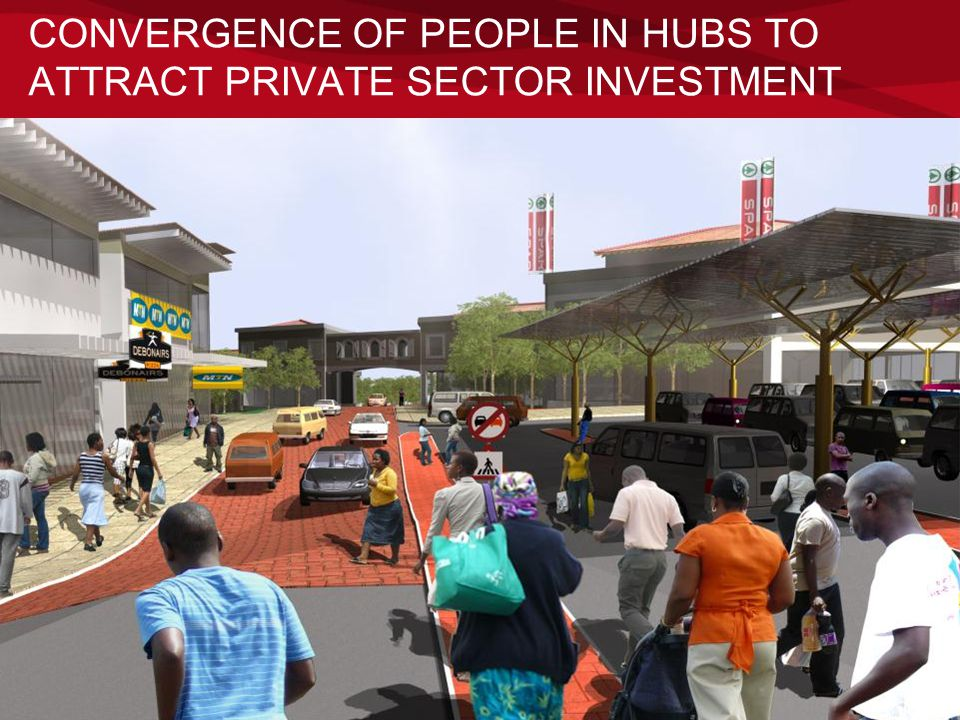 CONVERGENCE OF PEOPLE IN HUBS TO ATTRACT PRIVATE SECTOR INVESTMENT