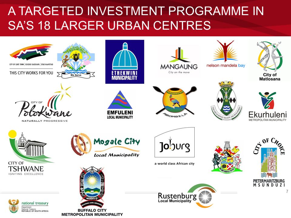 a targeted investment programme in SA's 18 larger urban centres