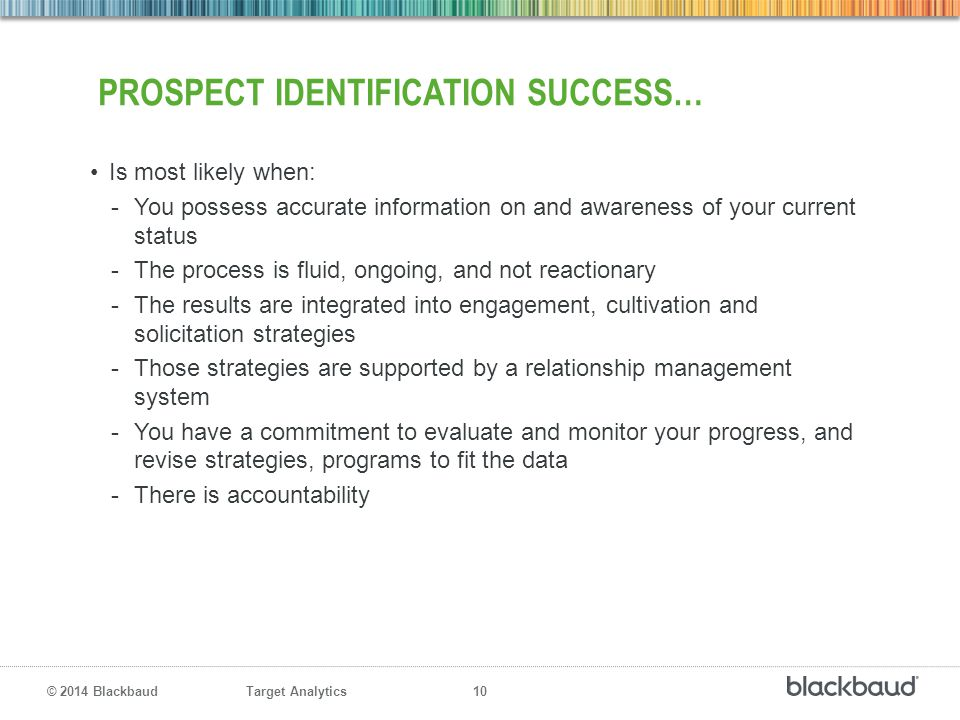 prospect identification success…