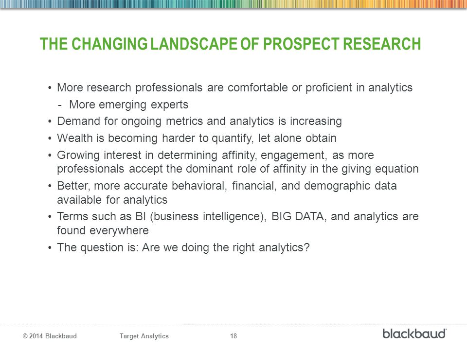 The changing landscape of prospect research