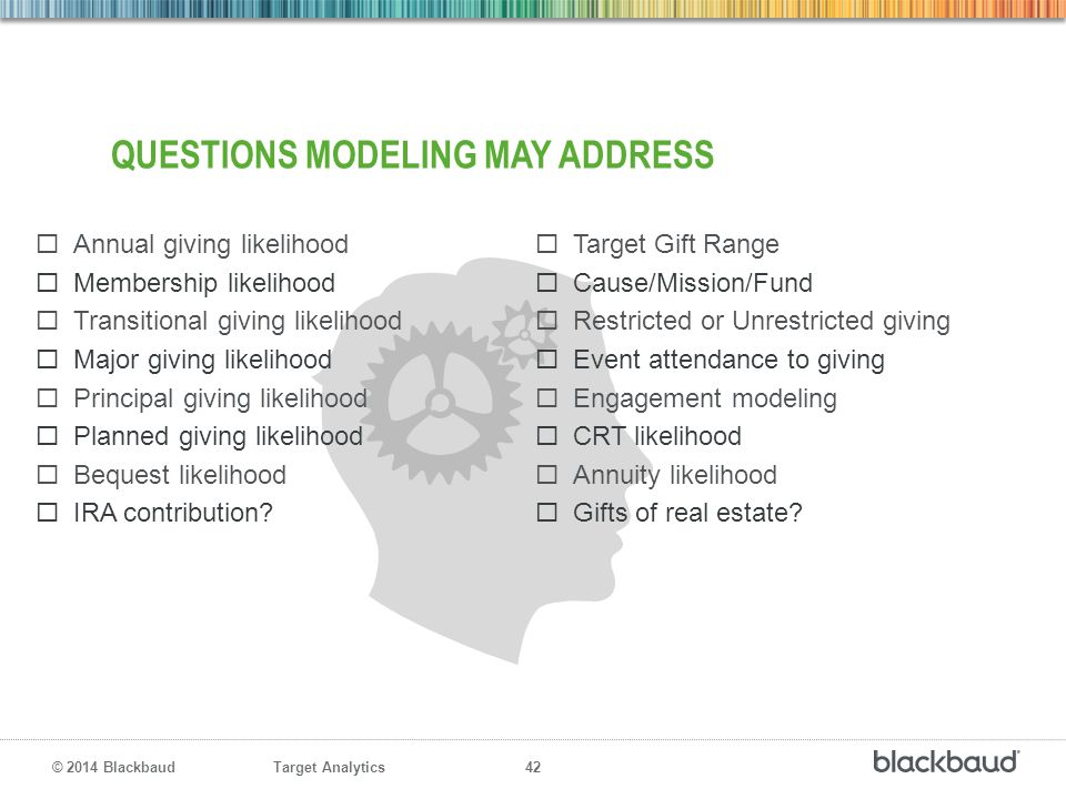 Questions modeling may address