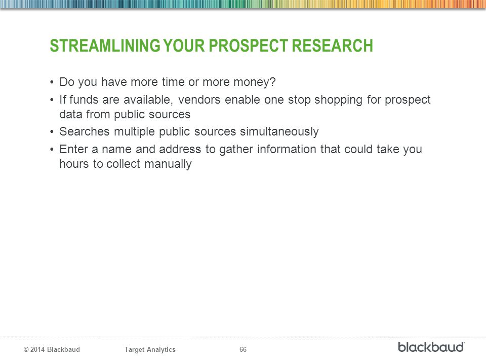 streamlining your prospect research