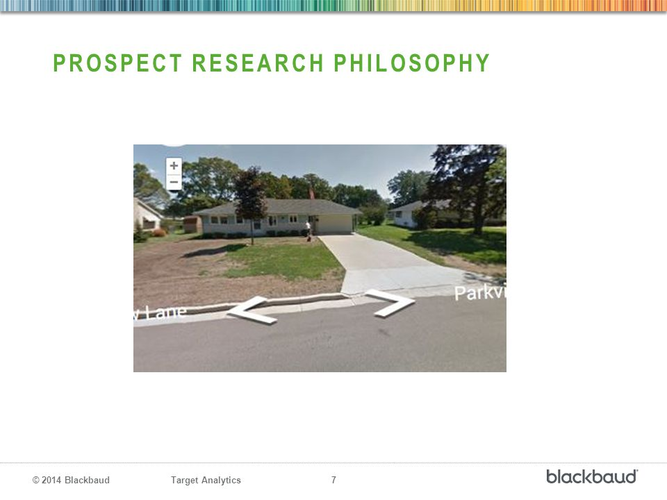 Prospect research philosophy