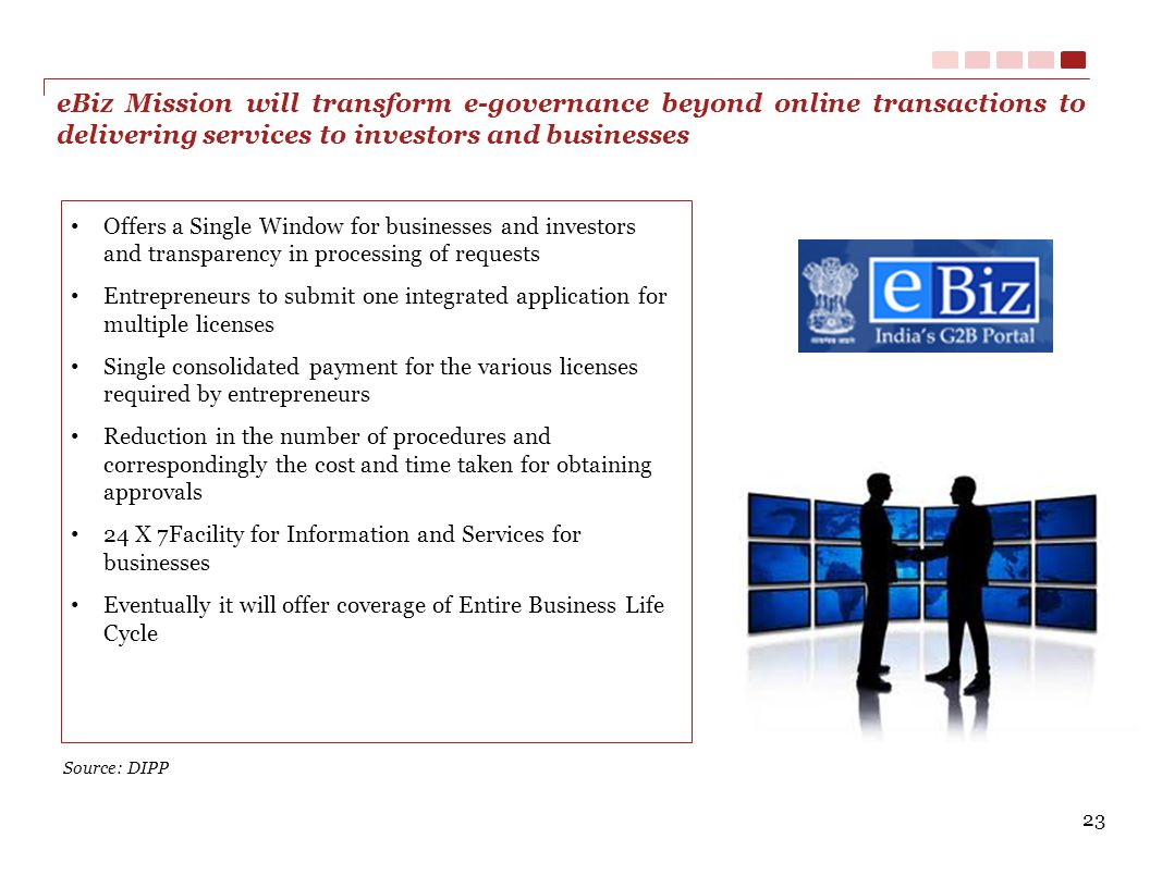 eBiz Mission will transform e-governance beyond online transactions to delivering services to investors and businesses