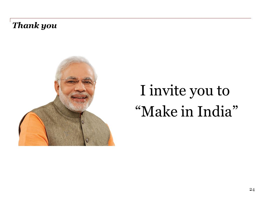 I invite you to Make in India