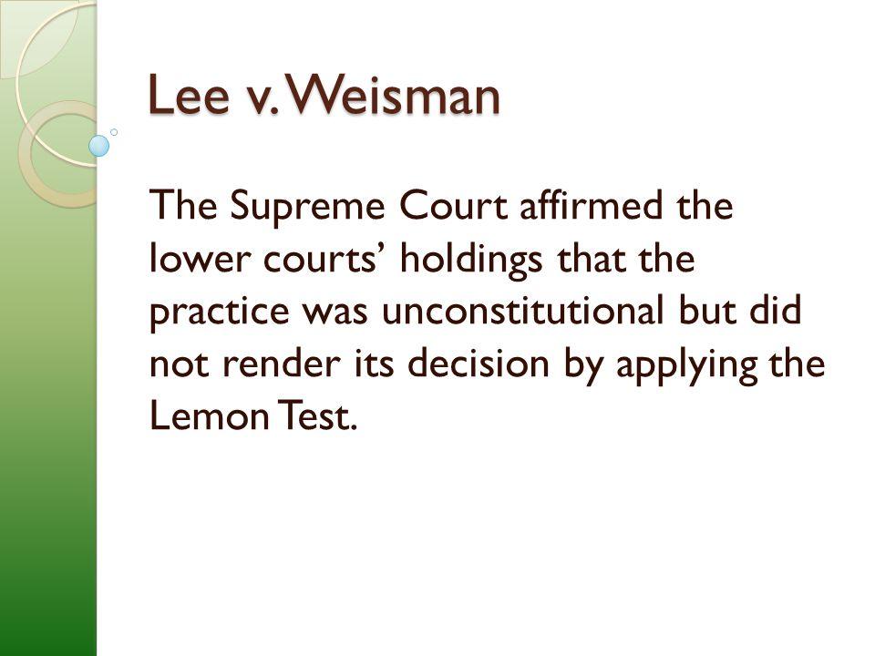 Lee v. Weisman