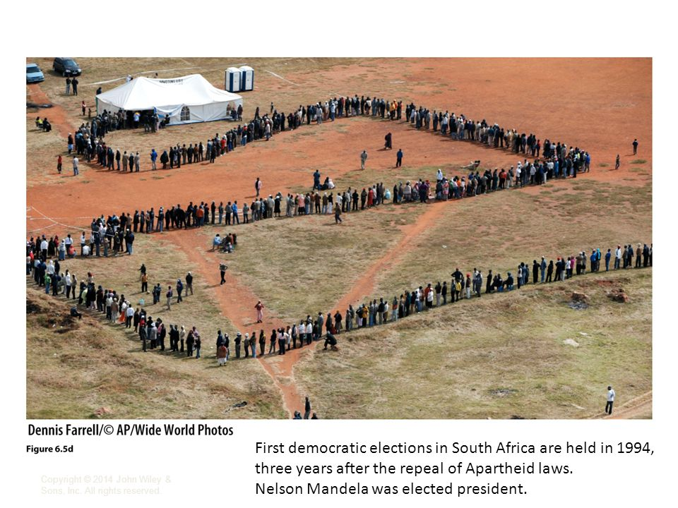 First democratic elections in South Africa are held in 1994,