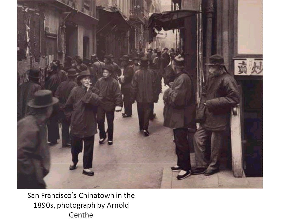 San Francisco's Chinatown in the 1890s, photograph by Arnold Genthe
