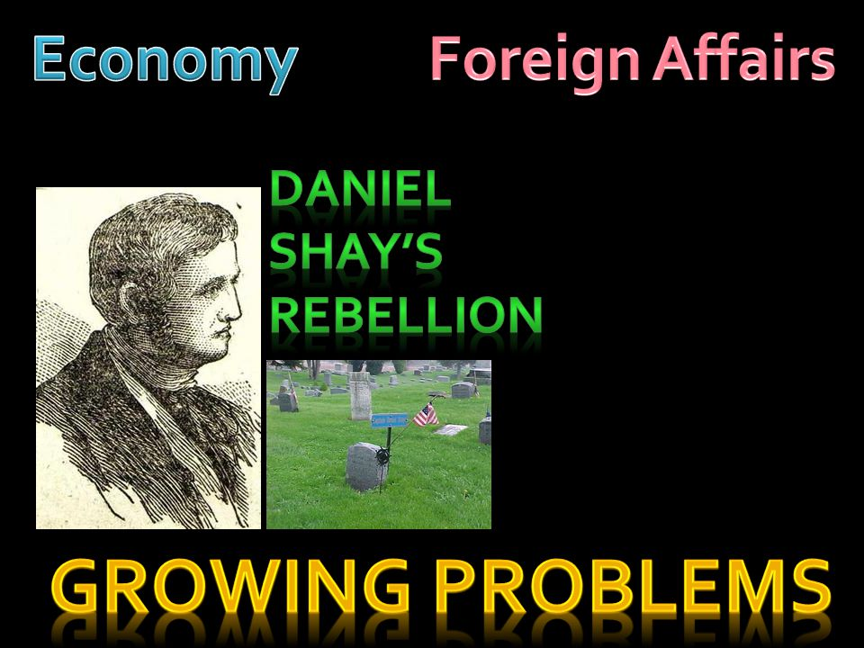 Economy Foreign Affairs Daniel Shay's Rebellion Growing Problems