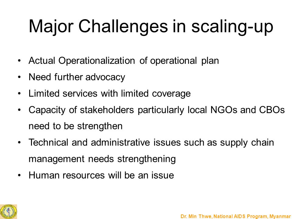 Major Challenges in scaling-up