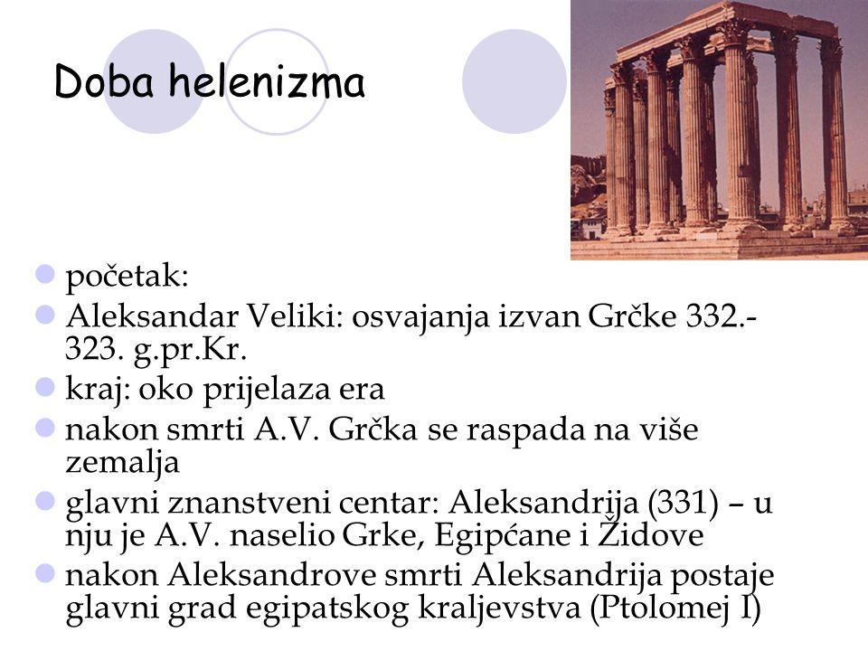 Doba helenizma početak:
