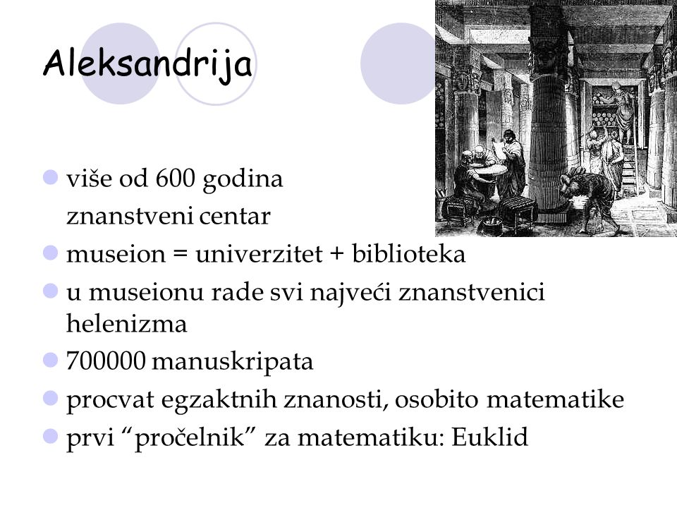 Aleksandrija više od 600 godina znanstveni centar