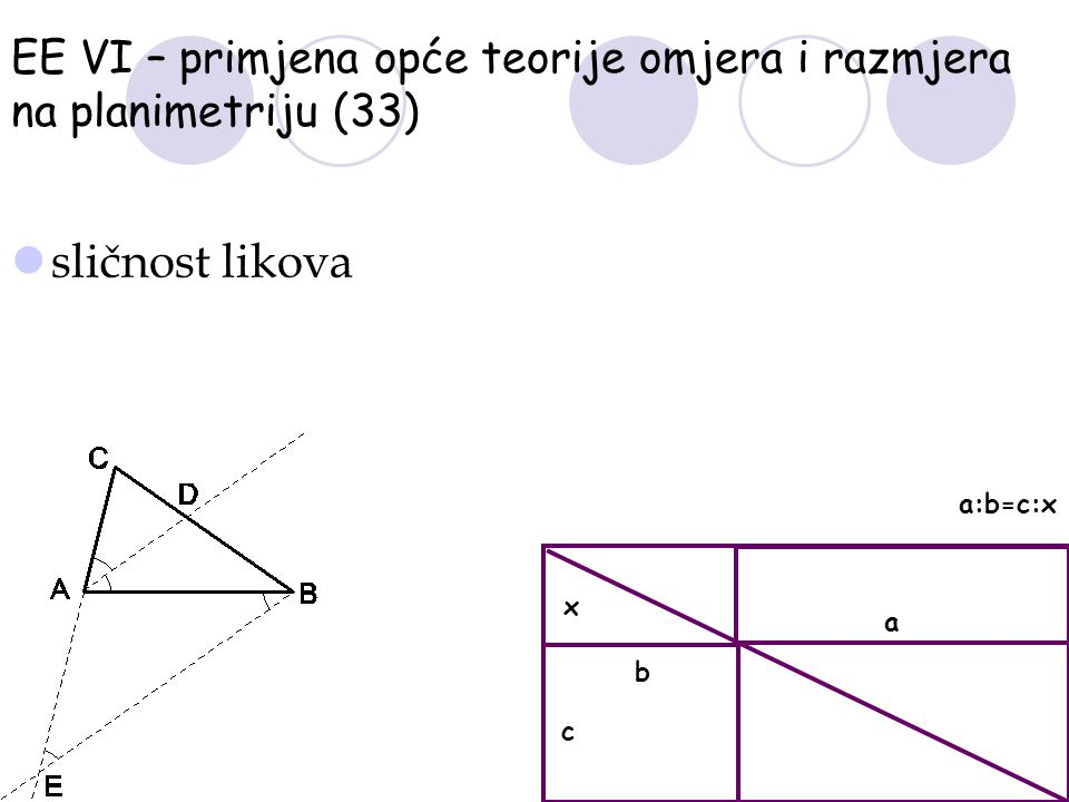 EE VI – primjena opće teorije omjera i razmjera na planimetriju (33)