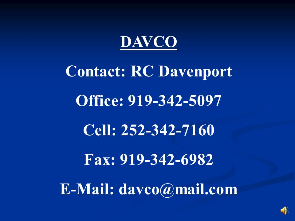 E-Mail: davco@mail.com