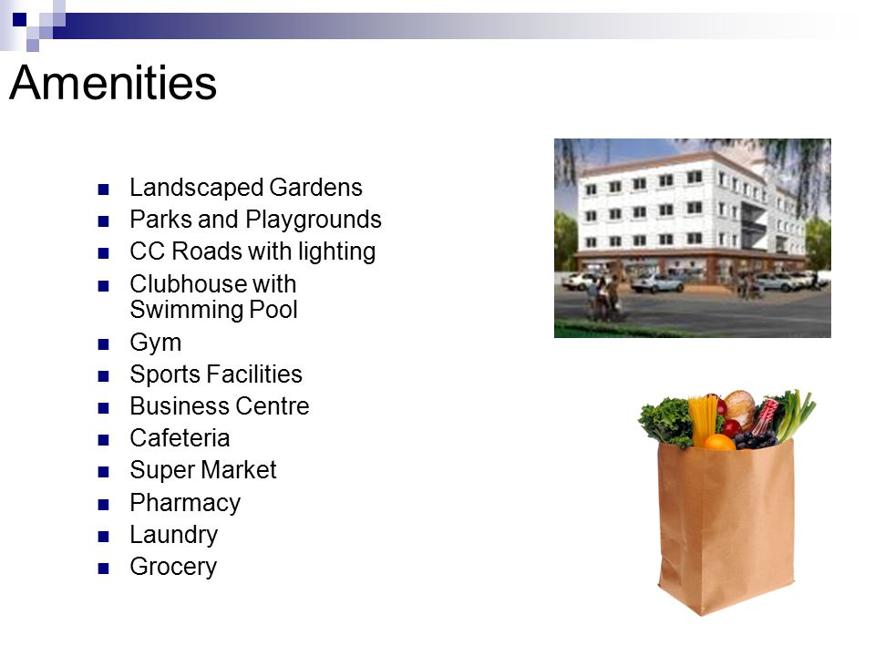 Amenities Landscaped Gardens Parks and Playgrounds