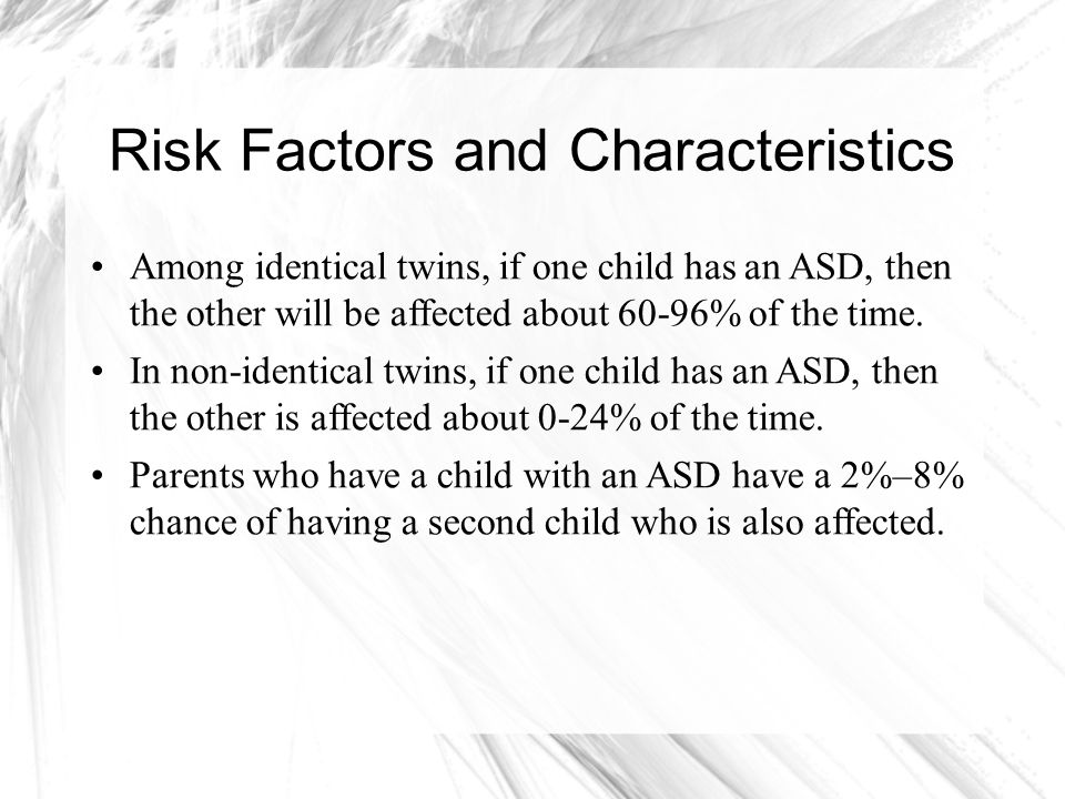 Risk Factors and Characteristics
