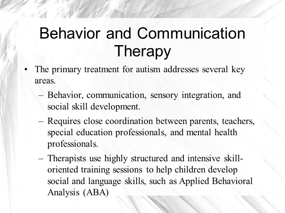 Behavior and Communication Therapy