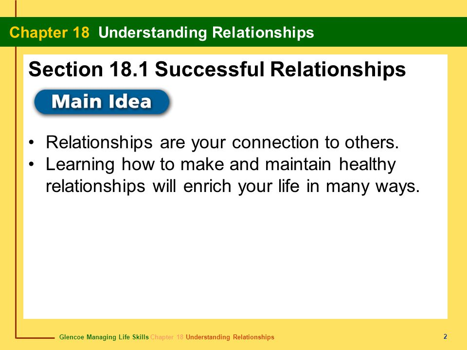 Section 18.1 Successful Relationships