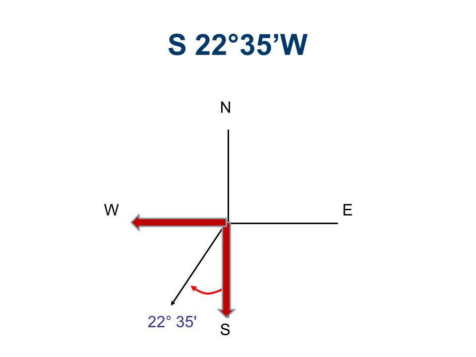 S 22°35'W N S E W 22° 35 Legal Descriptions