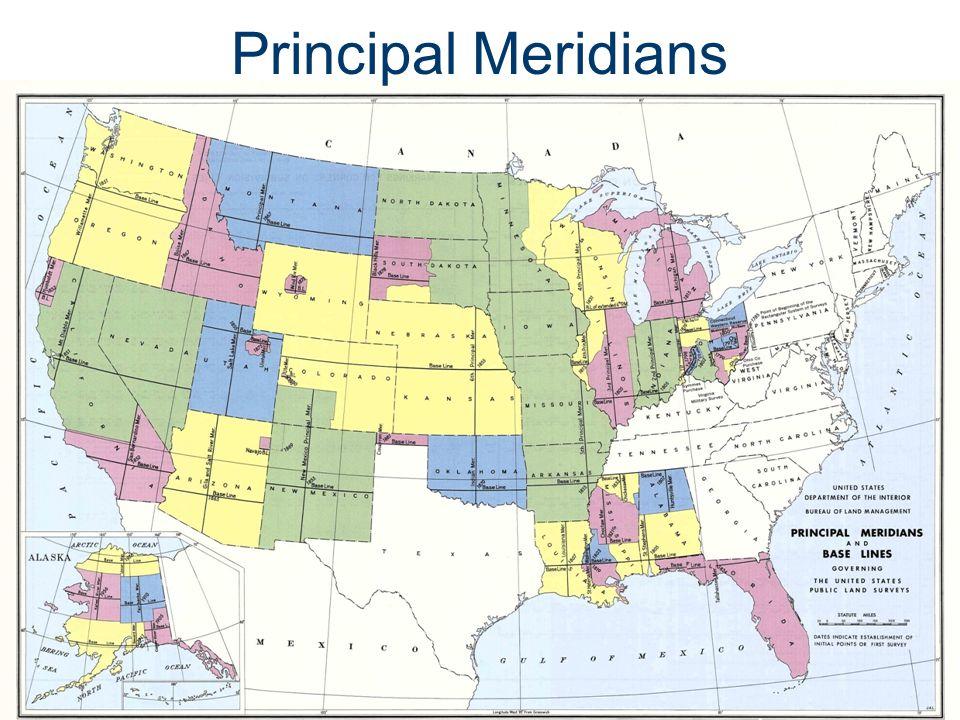 Principal Meridians Legal Descriptions