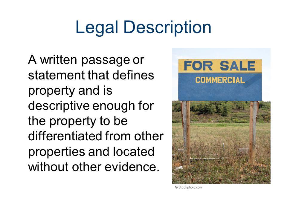 Legal Descriptions Civil Engineering and Architecture. Unit 4 – Lesson 4.1 – Commercial Building Design Problem.