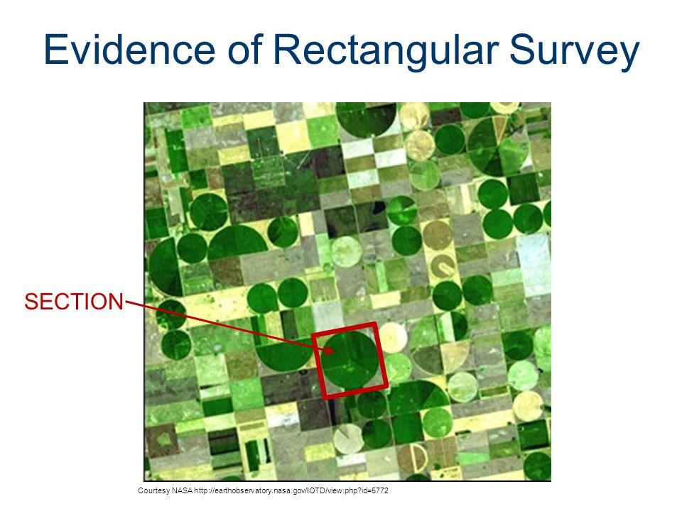 Evidence of Rectangular Survey