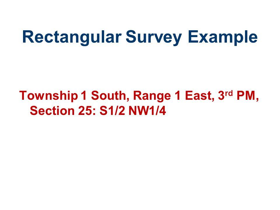 Rectangular Survey Example