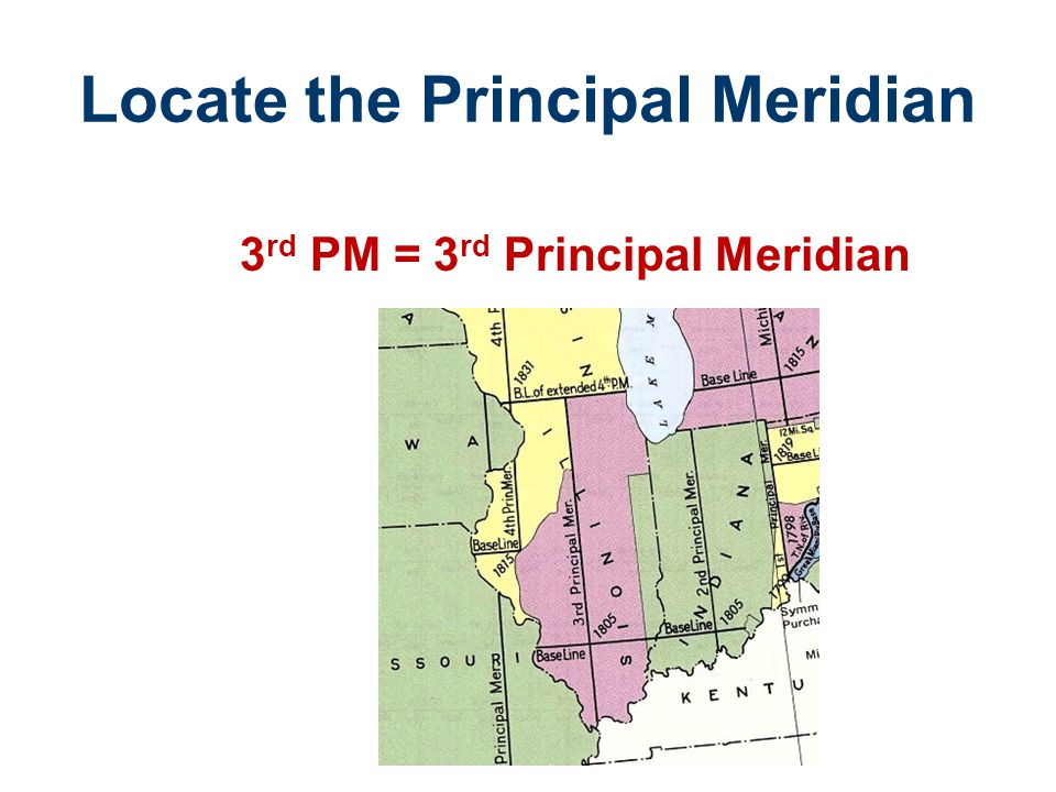 Locate the Principal Meridian