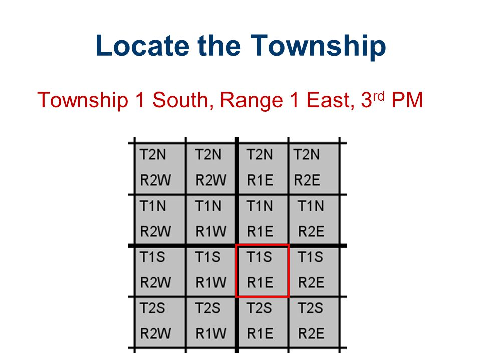 Locate the Township Township 1 South, Range 1 East, 3rd PM