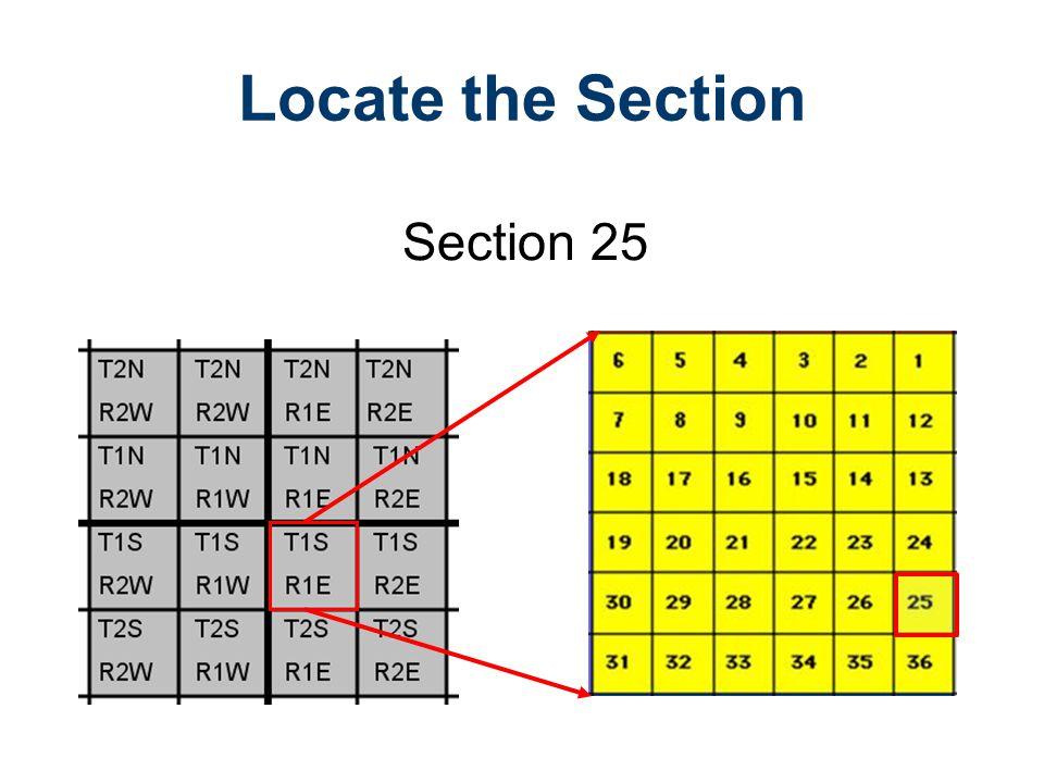 Locate the Section Section 25 Legal Descriptions