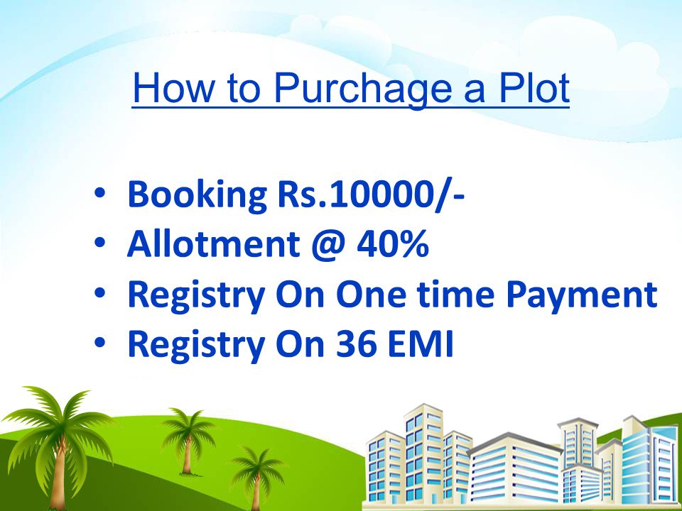 Registry On One time Payment Registry On 36 EMI