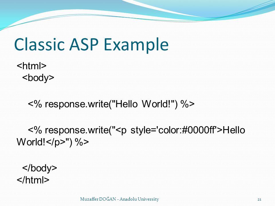 Classic ASP Example