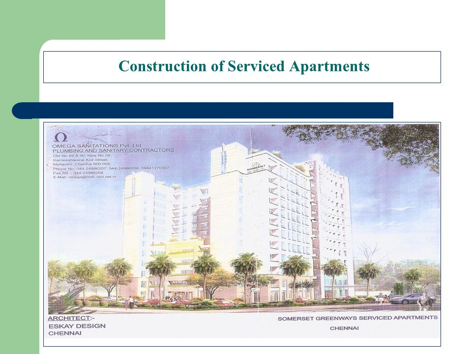 Construction of Serviced Apartments