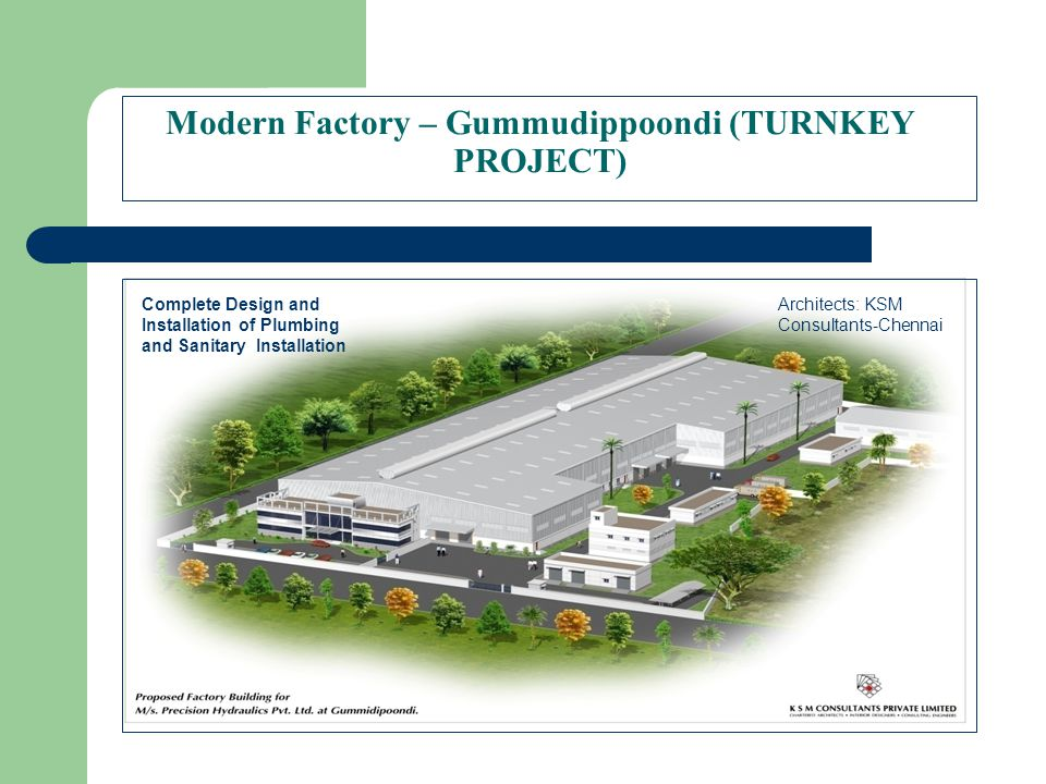 Modern Factory – Gummudippoondi (TURNKEY PROJECT)