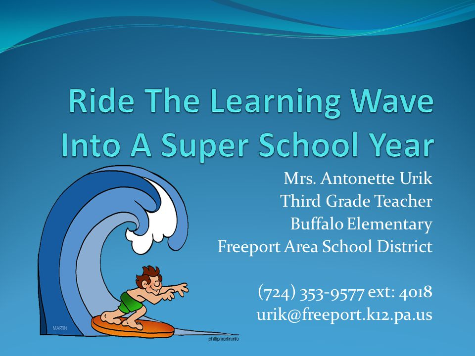 Ride The Learning Wave Into A Super School Year