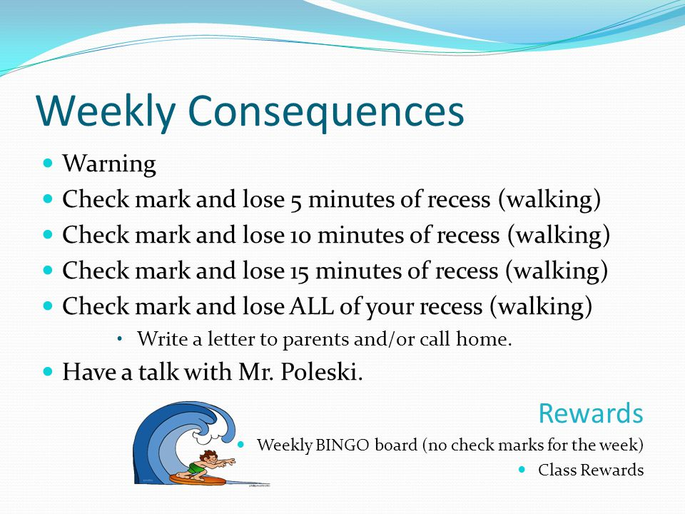 Weekly Consequences Rewards Warning