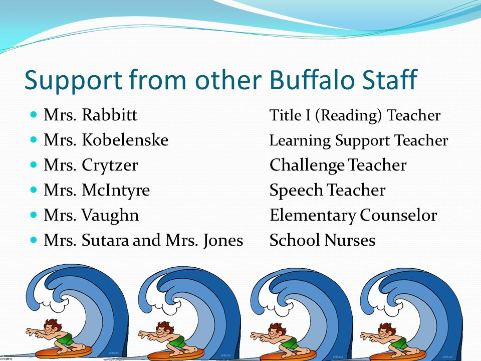 Support from other Buffalo Staff