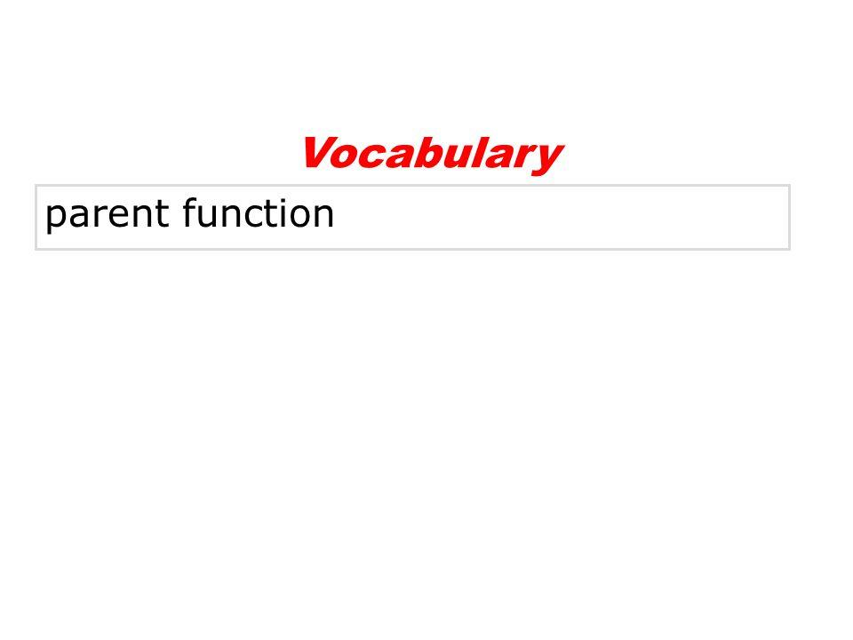 Vocabulary parent function