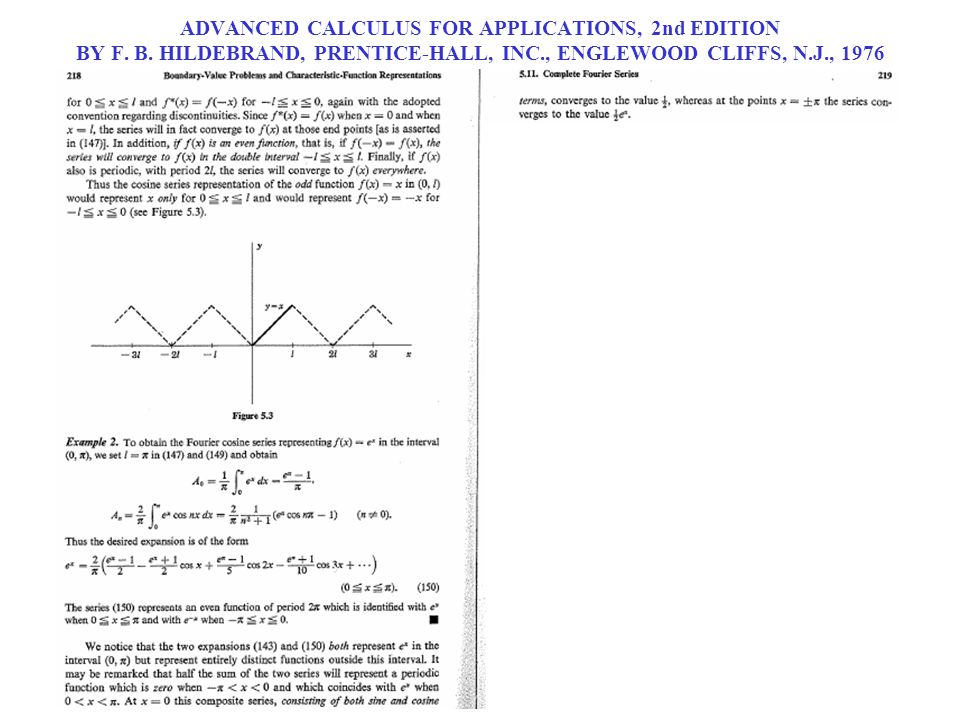 ADVANCED CALCULUS FOR APPLICATIONS, 2nd EDITION BY F. B