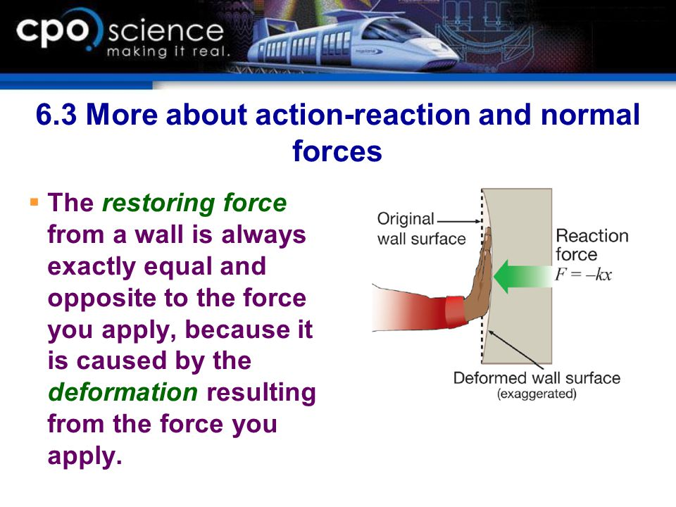 6.3 More about action-reaction and normal forces