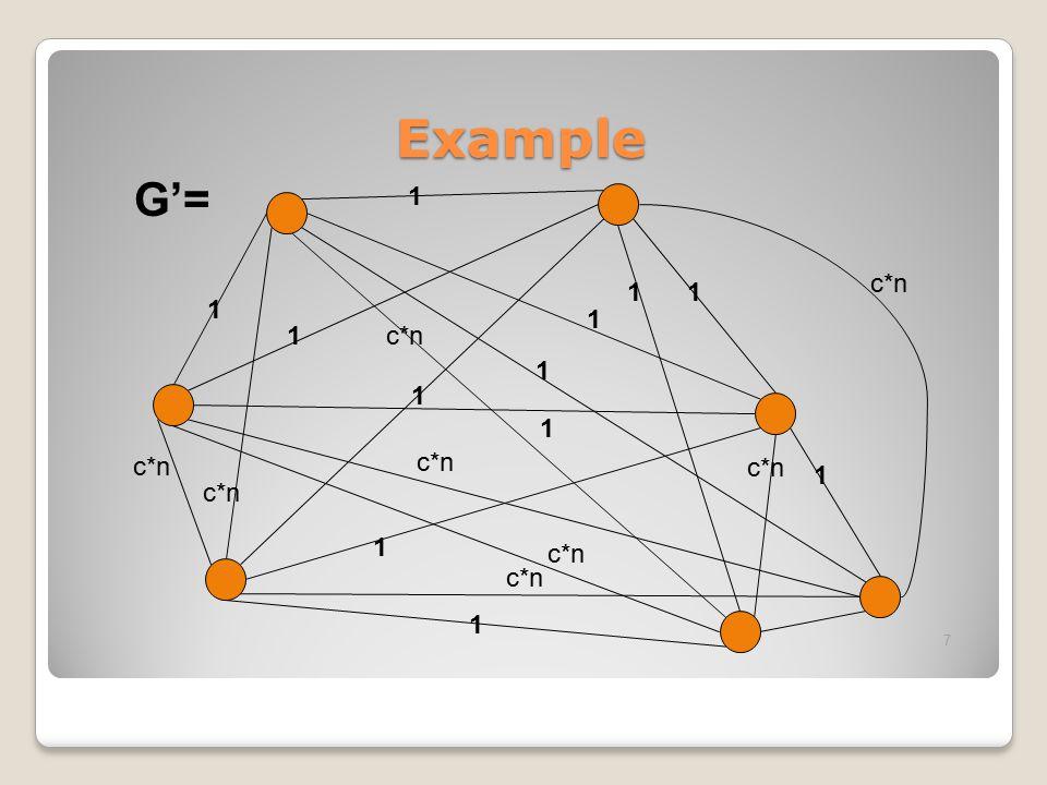 Example G'= 1 c*n
