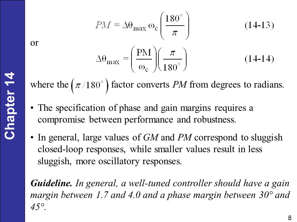 or where the factor converts PM from degrees to radians.