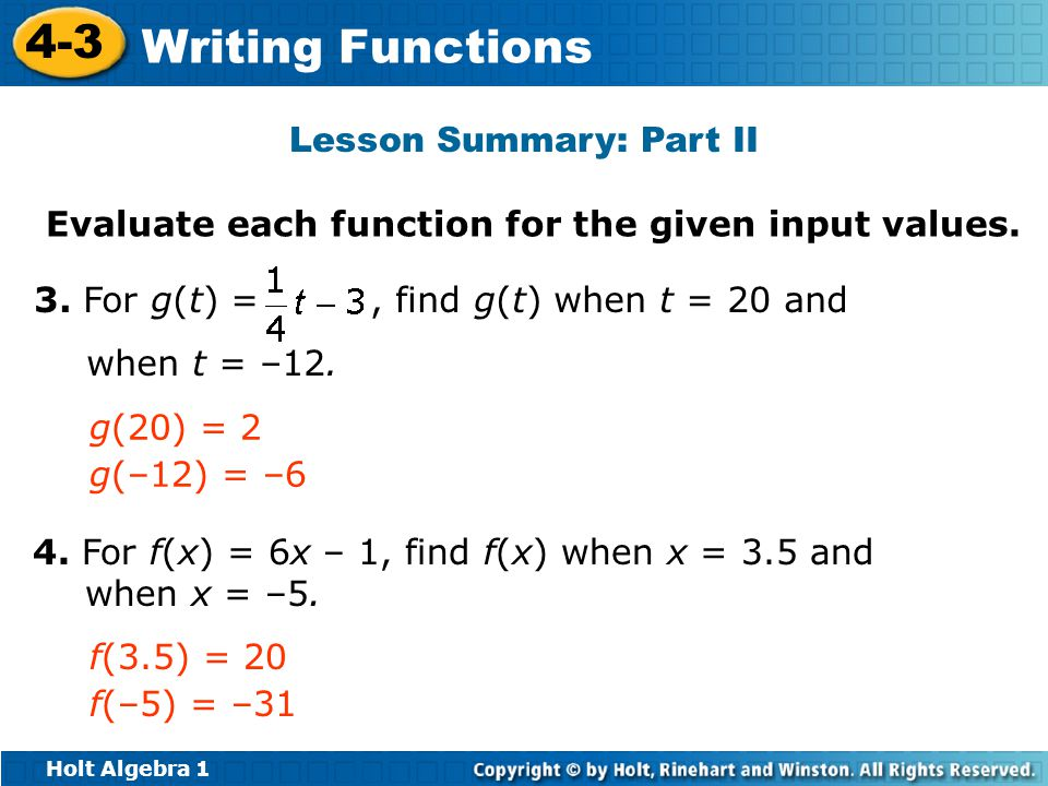 Lesson Summary: Part II