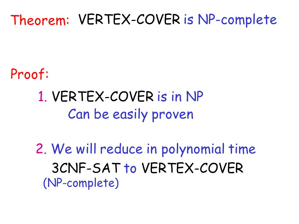 VERTEX-COVER is NP-complete