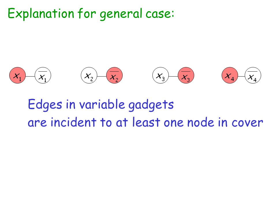 Explanation for general case: