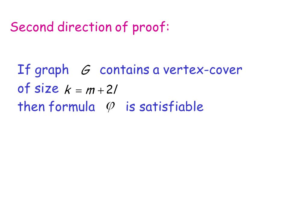 Second direction of proof: